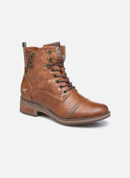 Bottines et boots Mustang shoes Assya Marron vue détail/paire