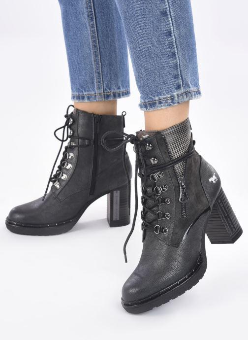 Stiefeletten & Boots Mustang shoes Déa grau ansicht von unten / tasche getragen