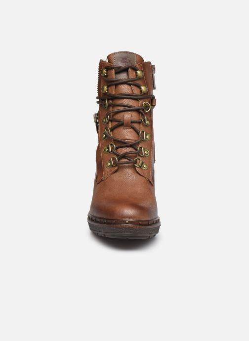 Bottines et boots Mustang shoes Déa Marron vue portées chaussures