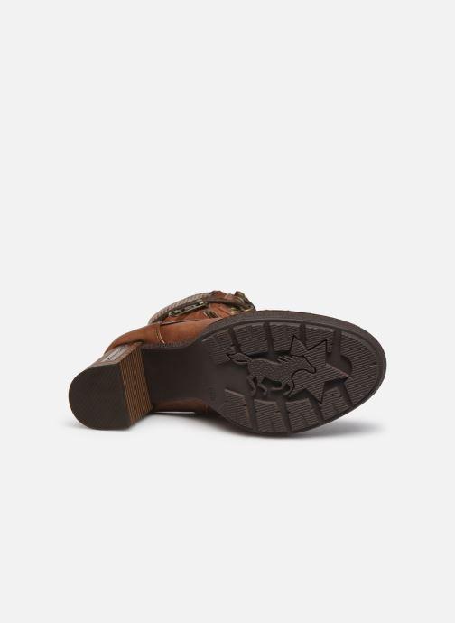 Bottines et boots Mustang shoes Déa Marron vue haut