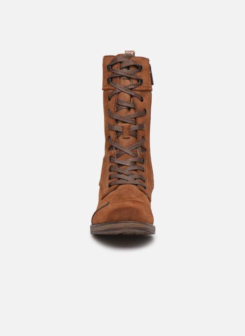 Bottines et boots Mustang shoes Romy Marron vue portées chaussures