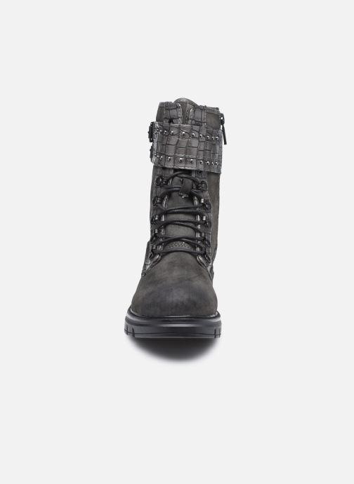 Stiefeletten & Boots Mustang shoes Théa grau schuhe getragen