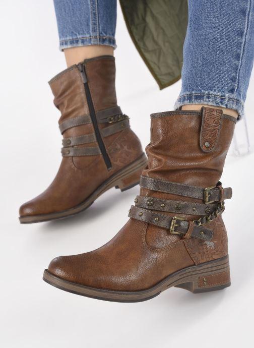 Stivaletti e tronchetti Mustang shoes Rexi Marrone immagine dal basso