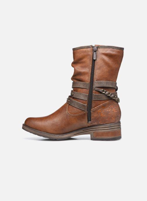 Bottines et boots Mustang shoes Rexi Marron vue face