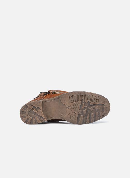 Bottines et boots Mustang shoes Rexi Marron vue haut