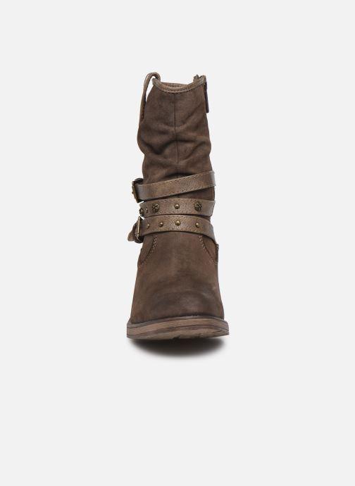 Bottines et boots Mustang shoes Rexi Marron vue portées chaussures