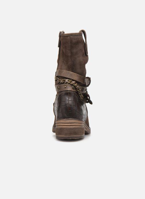 Bottines et boots Mustang shoes Rexi Marron vue droite
