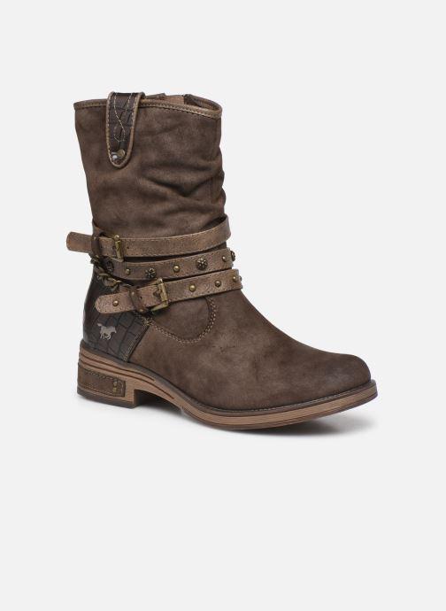 Bottines et boots Mustang shoes Rexi Marron vue détail/paire