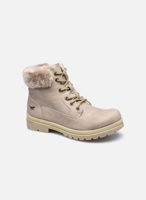 Bottines et boots Mustang shoes Nour Beige vue détail/paire