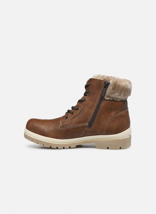 Boots en enkellaarsjes Mustang shoes Nour Bruin voorkant