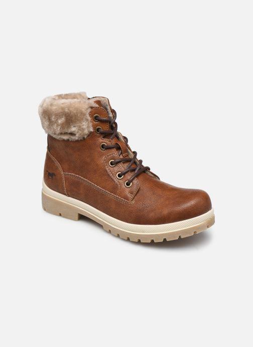 Bottines et boots Mustang shoes Nour Marron vue détail/paire