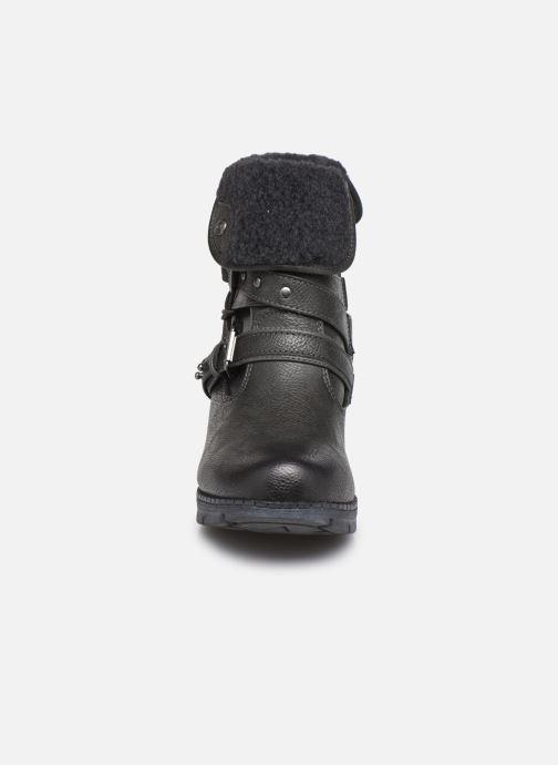 Bottes Mustang shoes Heva Gris vue portées chaussures