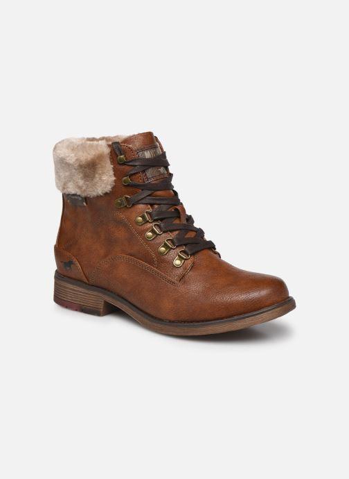 Boots en enkellaarsjes Mustang shoes Ling Bruin detail