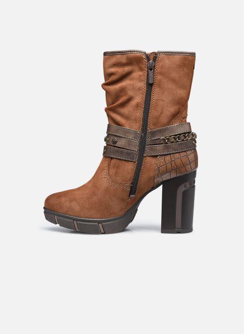 Bottines et boots Mustang shoes Alix Marron vue face