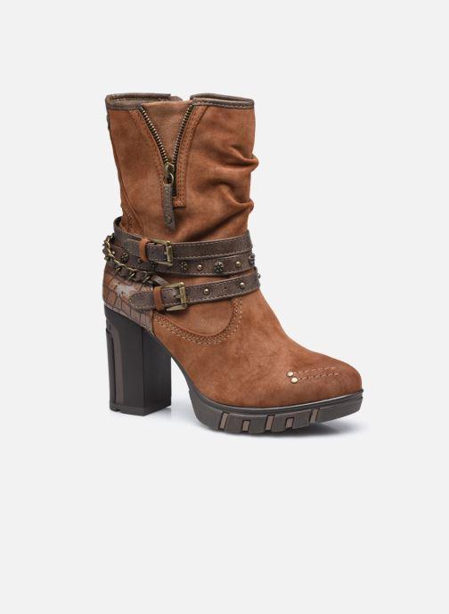 Bottines et boots Mustang shoes Alix Marron vue détail/paire