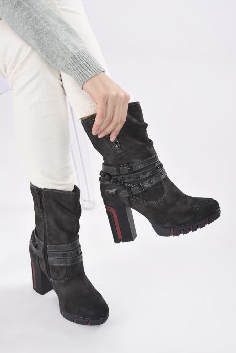 Bottines et boots Mustang shoes Alix Gris vue bas / vue portée sac