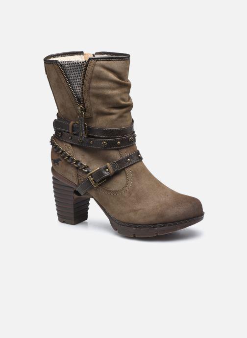 Boots en enkellaarsjes Mustang shoes indiala Bruin detail