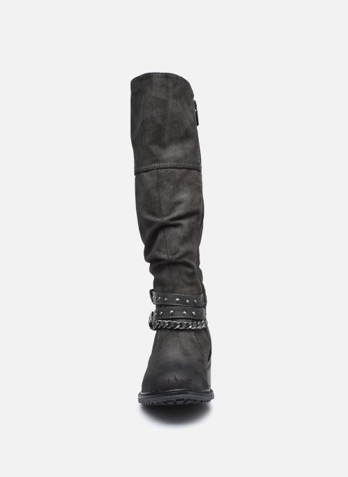 Stiefel Mustang shoes Edwige grau schuhe getragen