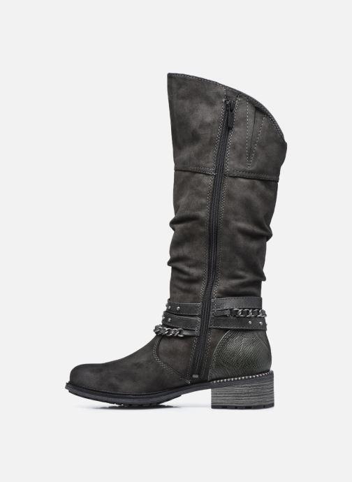 Stiefel Mustang shoes Edwige grau ansicht von vorne