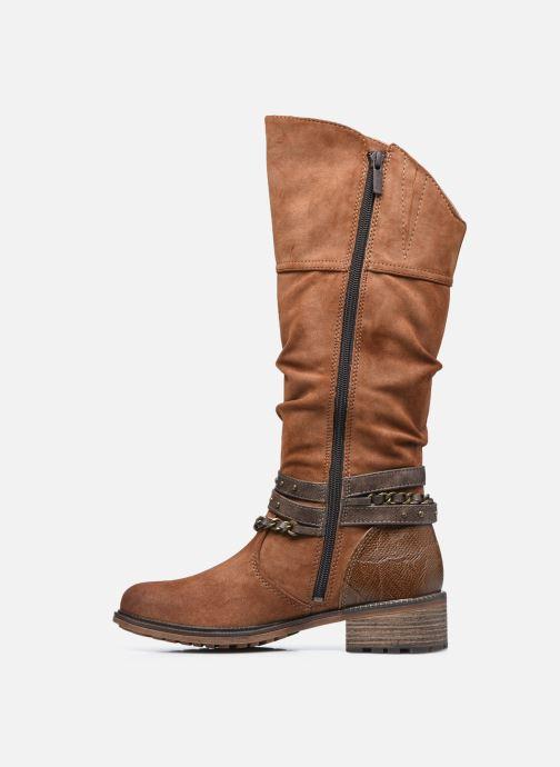 Stiefel Mustang shoes Edwige braun ansicht von vorne