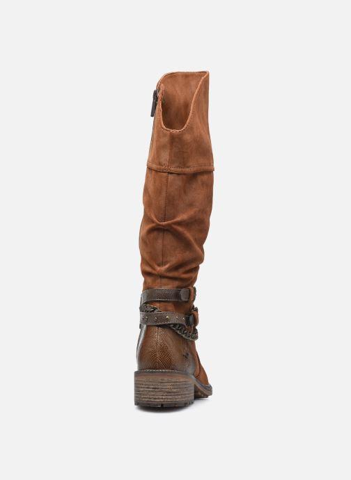 Bottes Mustang shoes Edwige Marron vue droite