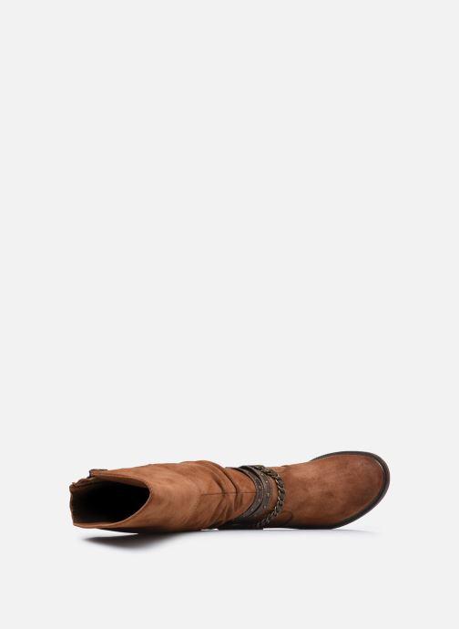 Bottes Mustang shoes Edwige Marron vue gauche