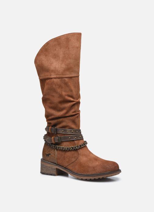 Bottes Mustang shoes Edwige Marron vue détail/paire