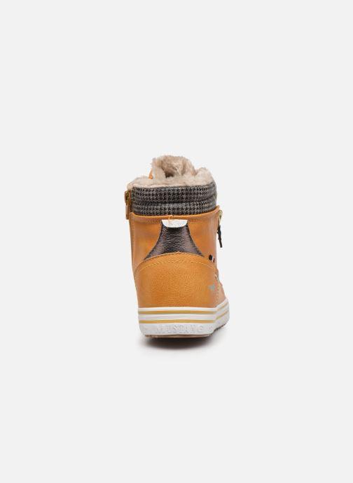 Baskets Mustang shoes Klay Jaune vue droite