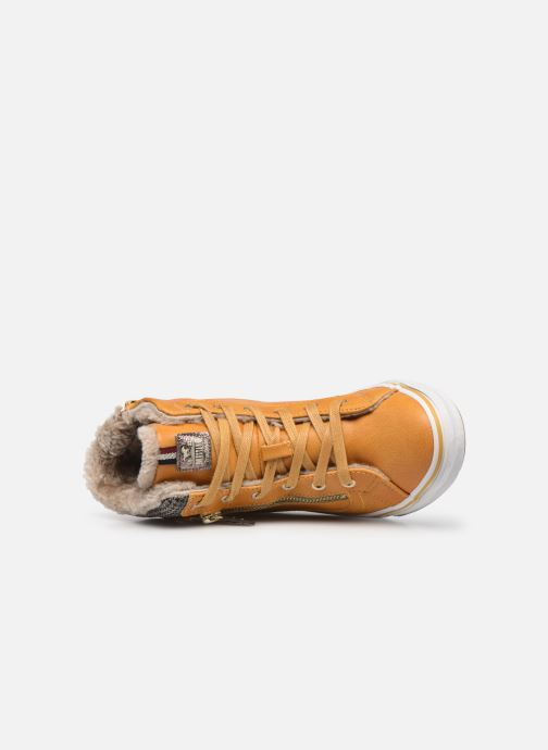 Baskets Mustang shoes Klay Jaune vue gauche