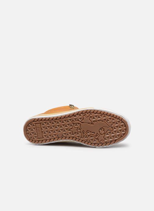 Baskets Mustang shoes Klay Jaune vue haut