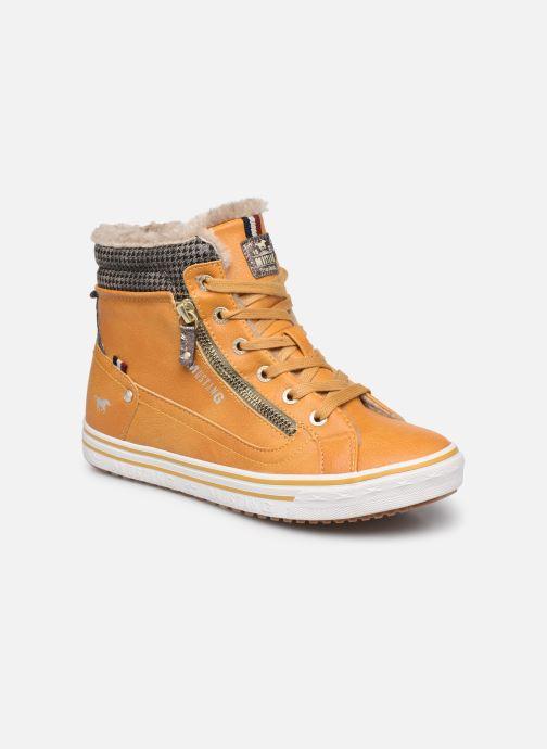 Baskets Mustang shoes Klay Jaune vue détail/paire