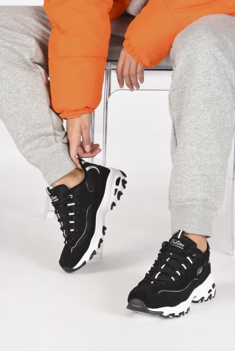 Baskets Skechers D'LITES FREEZE TALK W Noir vue bas / vue portée sac