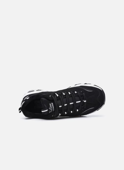 Baskets Skechers D'LITES FREEZE TALK W Noir vue gauche