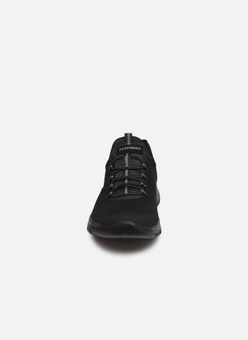 Sportschuhe Skechers SUMMITS COOL CLASSIC W schwarz schuhe getragen