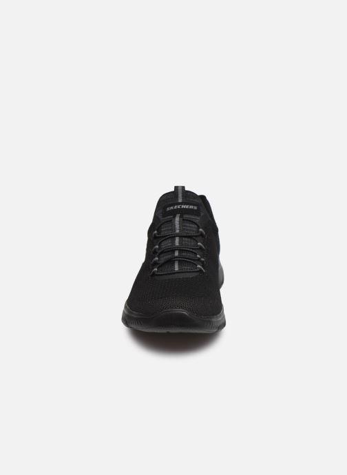 Scarpe sportive Skechers SUMMITS COOL CLASSIC W Nero modello indossato