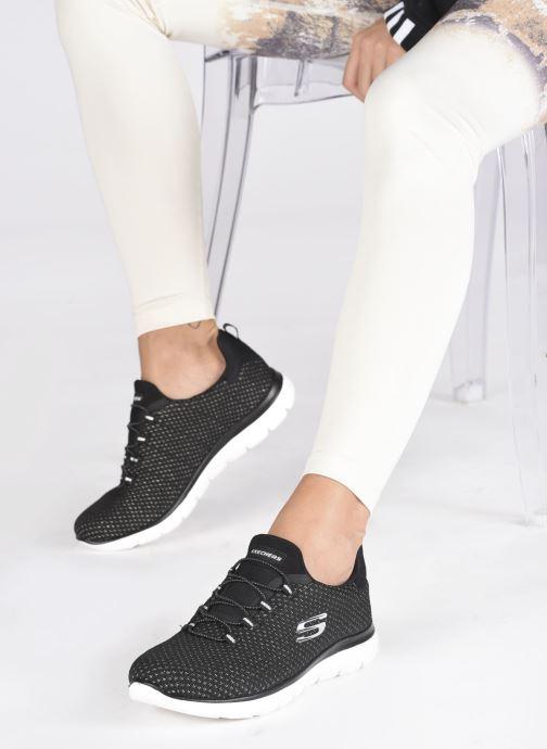 Chaussures de sport Skechers SUMMITS W Noir vue bas / vue portée sac