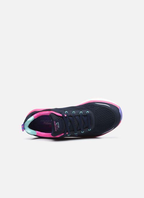Sneaker Skechers D'LUX WALKER INFINITE MOTION W schwarz ansicht von links