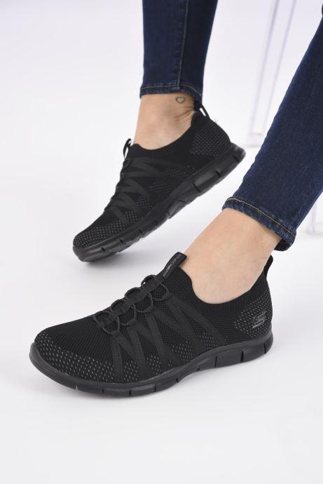 Chaussures de sport Skechers GRATIS W Noir vue bas / vue portée sac