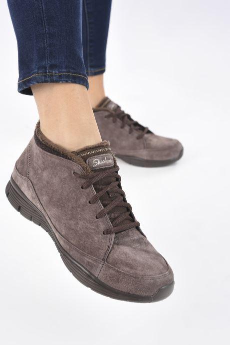Sneaker Skechers SEAGER W braun ansicht von unten / tasche getragen