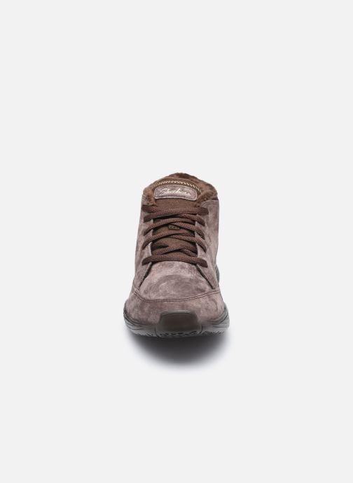 Sneaker Skechers SEAGER W braun schuhe getragen
