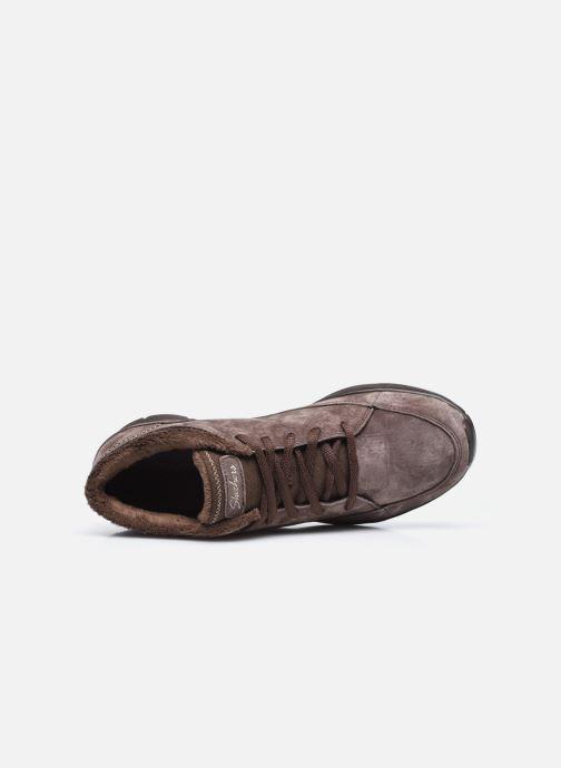 Sneaker Skechers SEAGER W braun ansicht von links