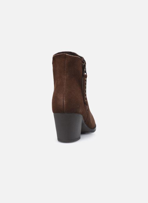 Bottines et boots Skechers TAXI DON'T TRIP W Marron vue droite