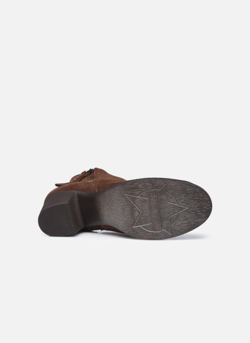 Bottines et boots Skechers TAXI DON'T TRIP W Marron vue haut