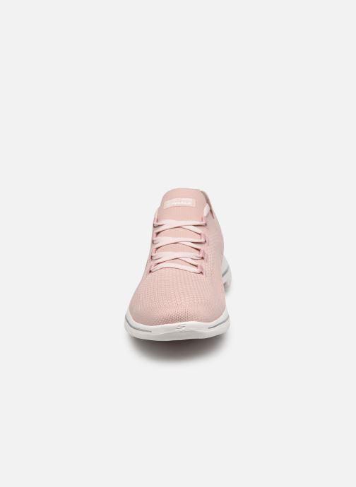 Baskets Skechers GO WALK 5 UPRISE W Rose vue portées chaussures