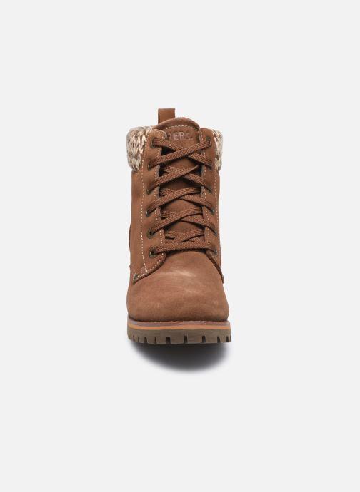 Bottines et boots Skechers LARAMIE 2 DOWNTOWN GAL W Marron vue portées chaussures
