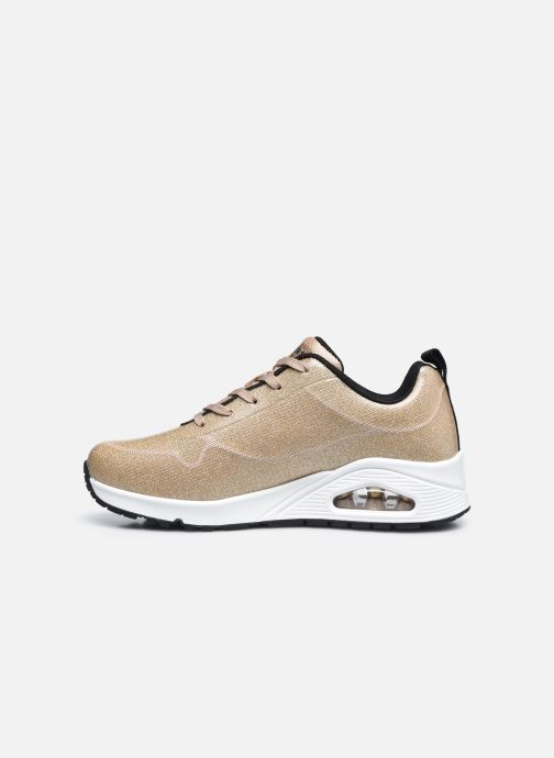 Sneaker Skechers UNO-DIAMOND SHATTER gold/bronze ansicht von vorne