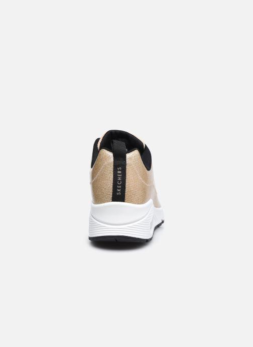 Sneaker Skechers UNO-DIAMOND SHATTER gold/bronze ansicht von rechts
