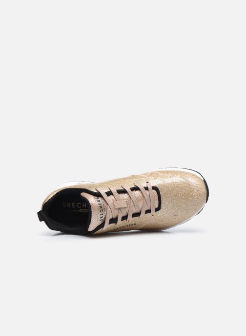 Sneaker Skechers UNO-DIAMOND SHATTER gold/bronze ansicht von links