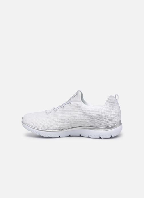 Chaussures de sport Skechers SUMMITS - LEOPARD SPOT Blanc vue face