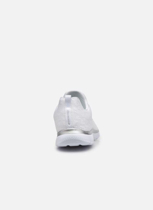 Scarpe sportive Skechers SUMMITS - LEOPARD SPOT Bianco immagine destra